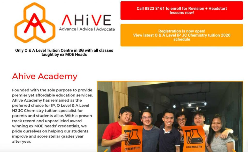 Ahive JC tuition