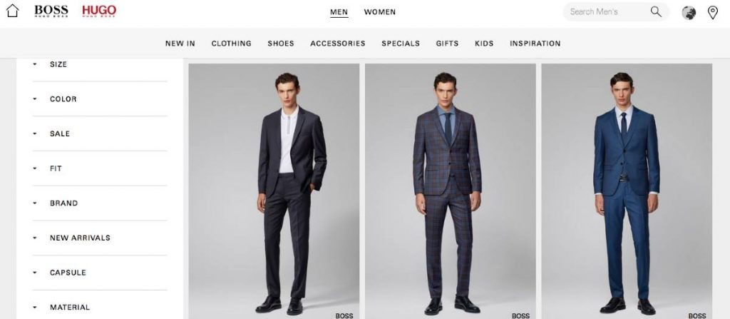 Hugo Boss Men's Fashion