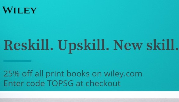 Book Sales – 25% off any Wiley Printed Books